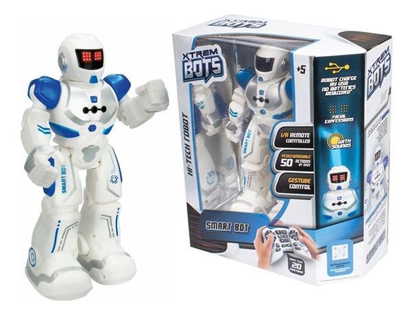 Boneco Robô com Controle Remoto Smart Bot Xtrem Bots Fun