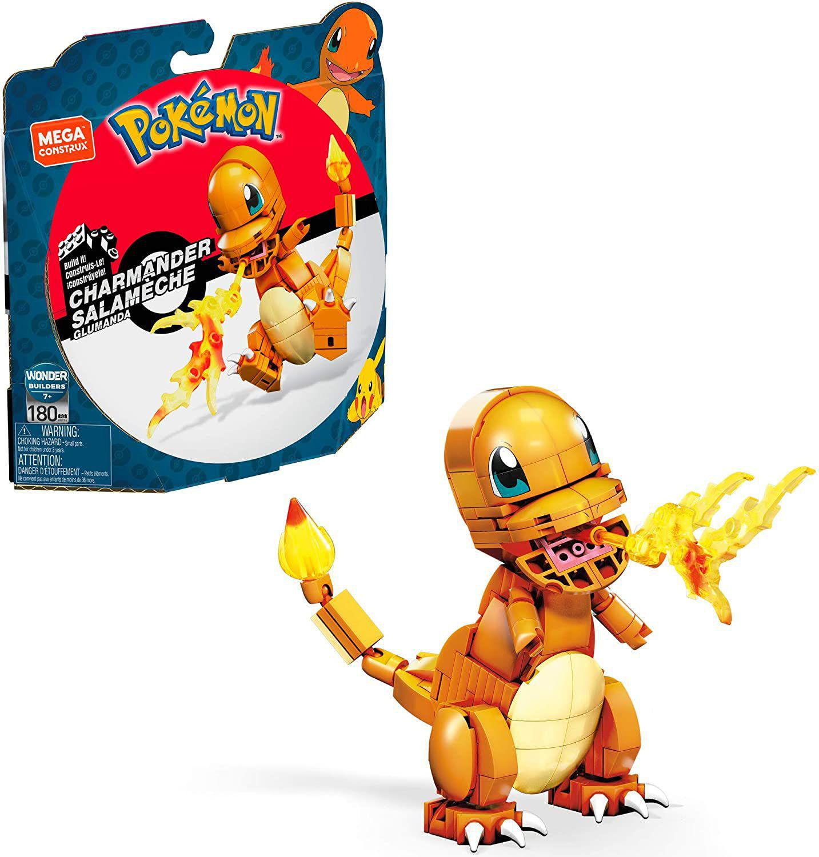 Boneco Transformável - Pokémon - Mega Construx - Charmander - Mattel