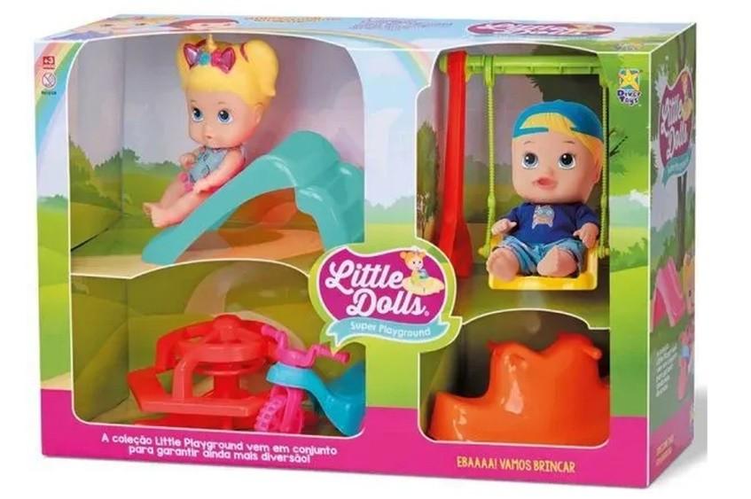 Bonecos Little DOLLS Super Playground Divertoys 8126