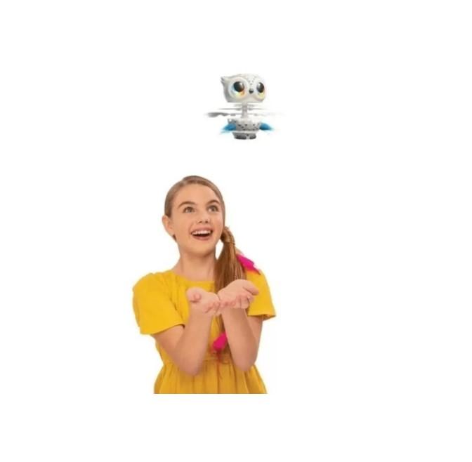 Brinquedo Coruja Voadora Interativa Owleez branco Sunny 2105