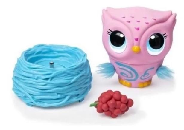 Brinquedo Coruja Voadora Interativa Owleez Rosa Sunny2106