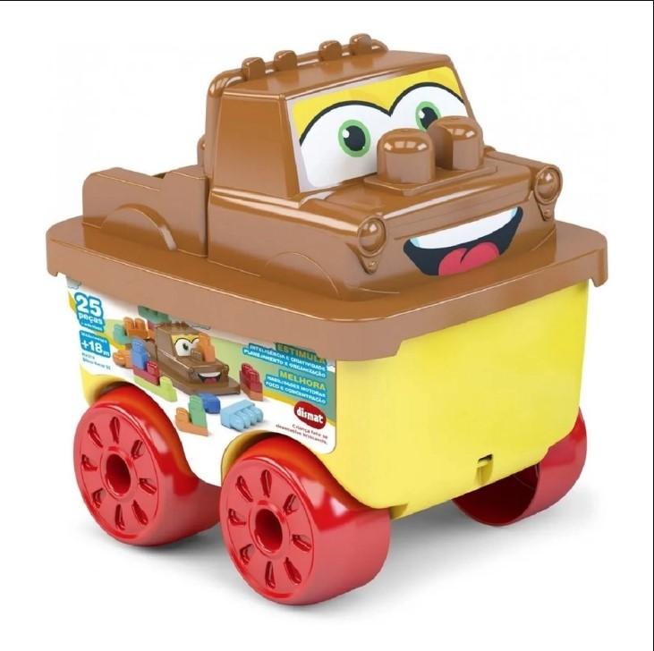 Brinquedo Educativo Bloco Racer Resgate 25 Pcs Dismat MK379