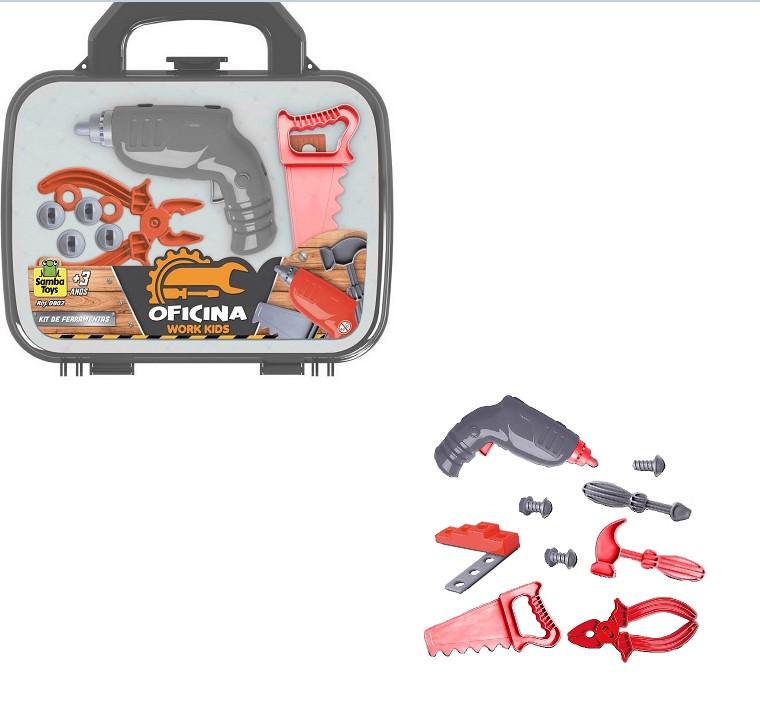 Brinquedo Infantil Maletinha Ferramentas c/ 8 acessórios 0802