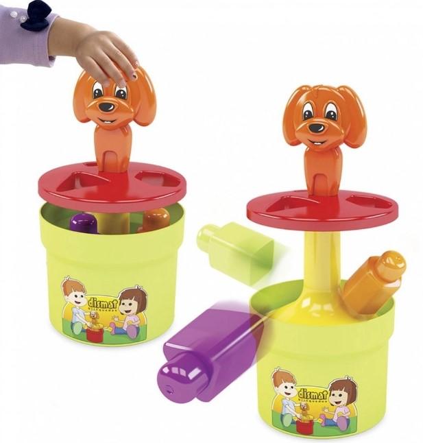 Brinquedo Infantil Puxa e Cai 04 Peças Dismat Mk226