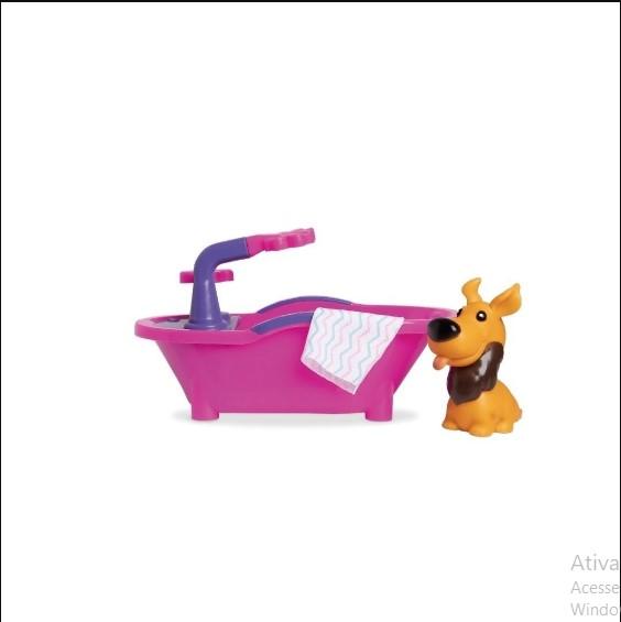 Brinquedo Pet Spa Banheirinha Com Um Cachorrinho