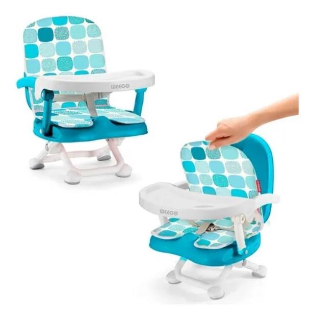 Cadeira De Alimentação Portátil Up Seat Azul 4047 Weego