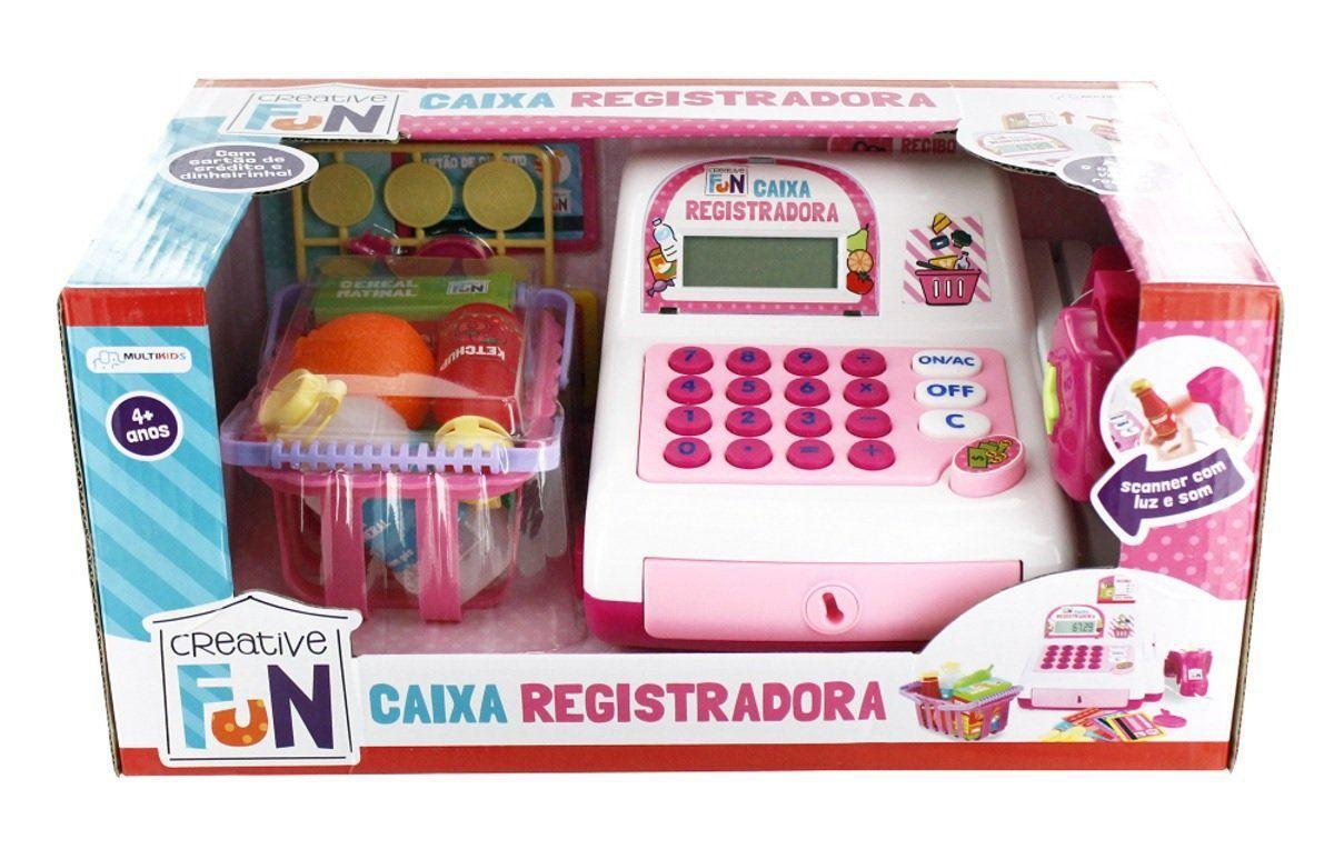 Caixa Registradora Creative Fun Rosa BR387 Multikids