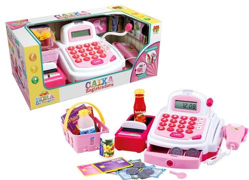 Caixa Registradora infantil Rosa DM Toys