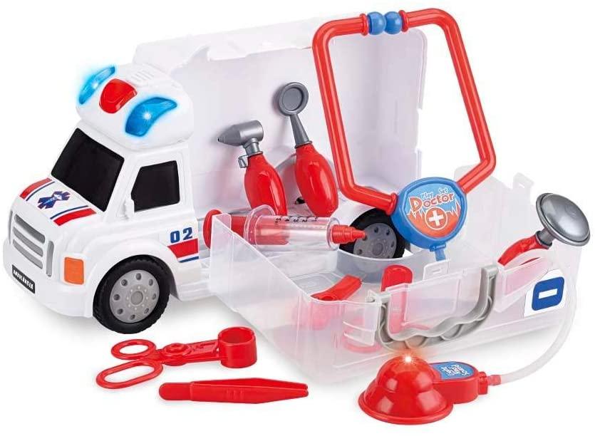 Caminhão  Ambulância de Primeiros Socorros Workshop Junior Truck  Multikids - BR900