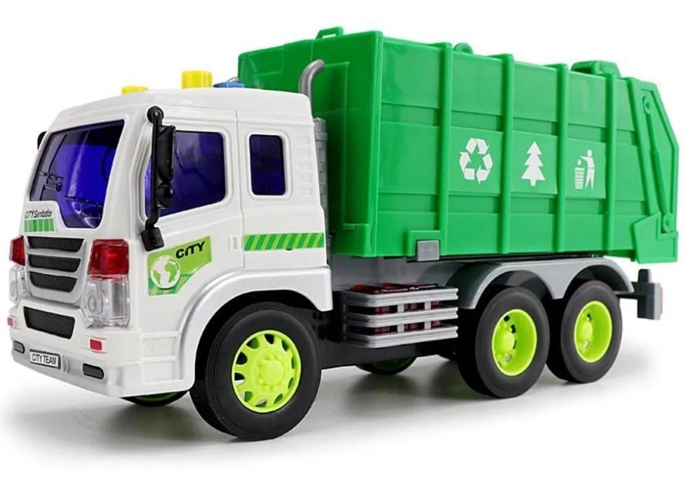 Caminhão de Lixo modelo da 1:16 Shiny Toys 166