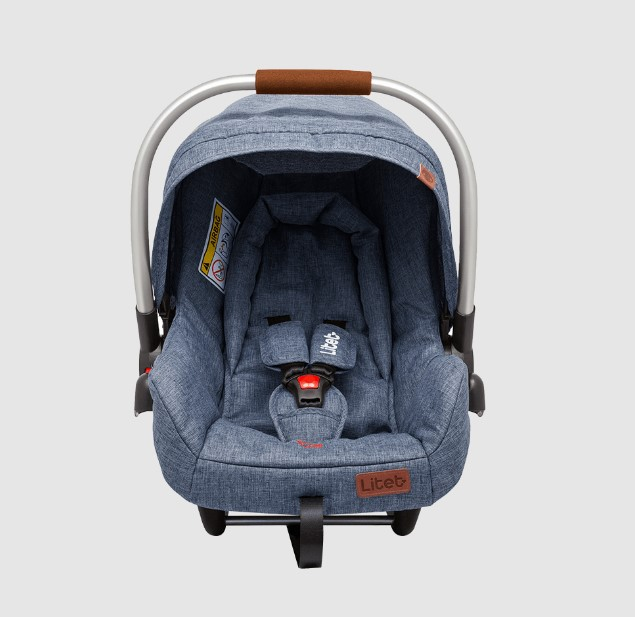 Carrinho de Bebê e Bebê Conforto Litet Azul BB684 e BB687