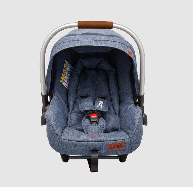 Carrinho de Bebê e Bebê Conforto Litet Azul BB687 BB670