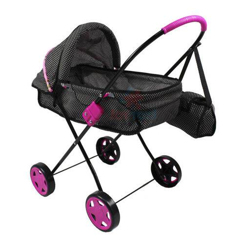 Carrinho De Boneca Xikitinha Pink Com Bolsa - Brinquedos Oliveira- 15057
