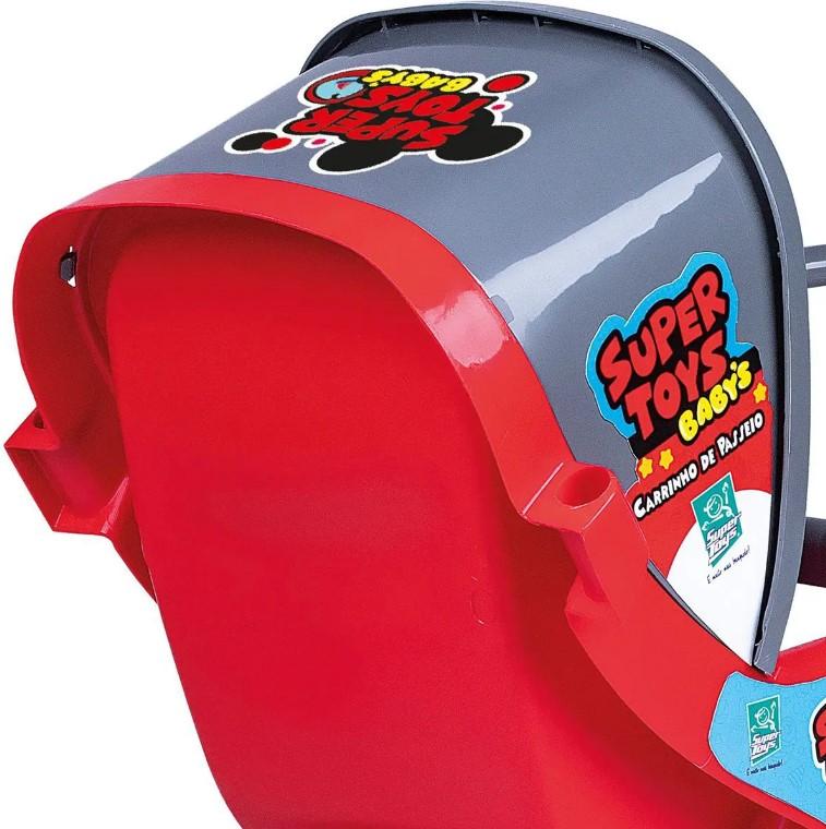 Carrinho De Passeio 3 Rodas Vermelho Reborn 437 Super Toy