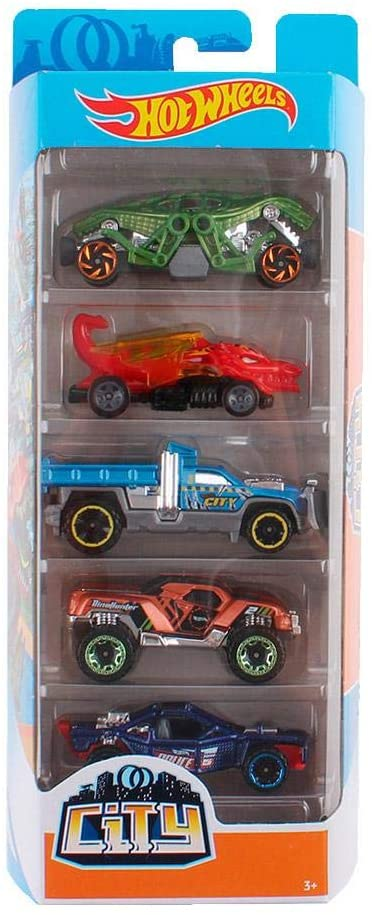 Carrinhos Hot Wheels City Pack com 5 - Mattel