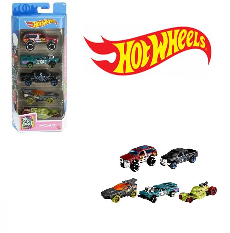 Carrinhos Hot Wheels kit com 5  HW Zombies Mattel 1806