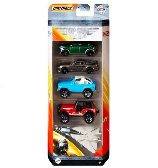 Carrinhos Matchbox Top Gun Maverick Pack Com 5  Mattel GRF43