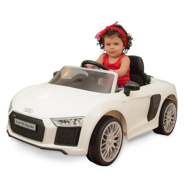 Carro Elétrico com Controle Audi R8 6V Branco Xalingo