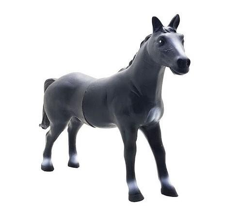 Cavalo De Brinquedo Vinil Cor Preto