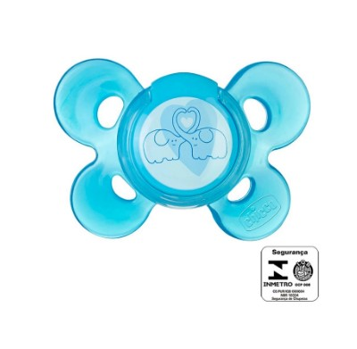 Chupeta Chicco Comfort Azul Sil Tam.2 (6-12m)-1 Um