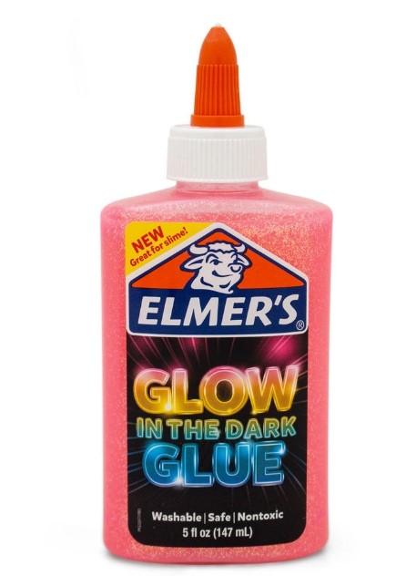 Cola Glitter Elmers - 147- Ml - Brilha No Escuro - Rosa - Toyng