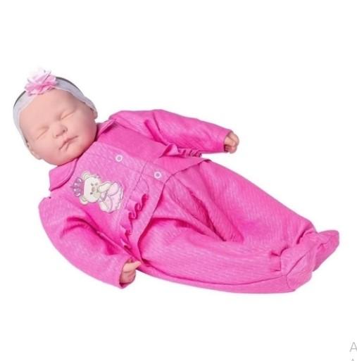 Coleção Ninos Reborn Dormindo de roupa Rosa