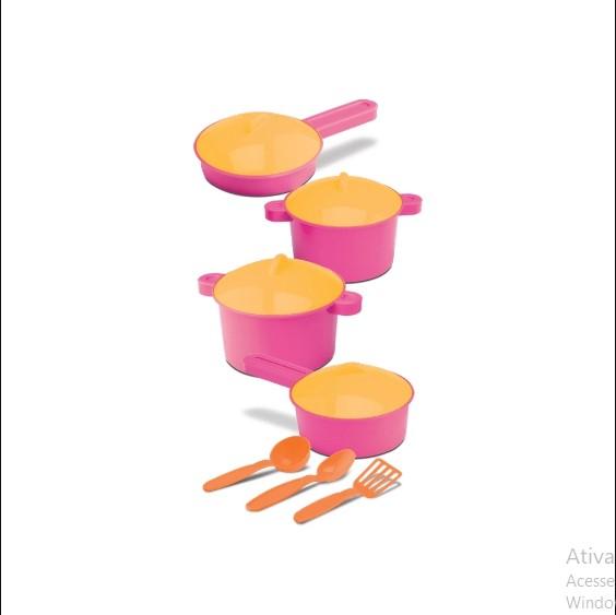 Conjunto de Cozinha Infantil Panelinhas e Utensílios 7 Peças