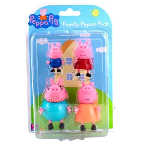 Conjunto De Mini Figuras -Familia Peppa 4 Personagens Sunny
