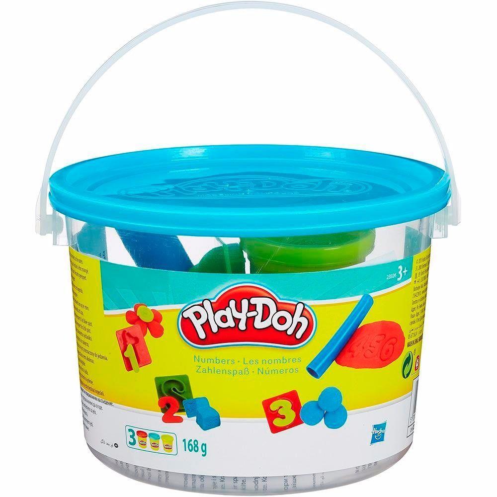 Conjunto Play-Doh Mini Balde Números - Hasbro