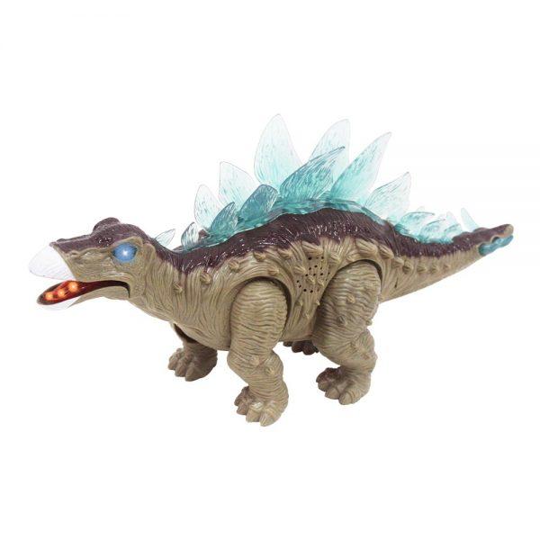 Dinossauro Estegossauro com movimento luz e som DM Toys