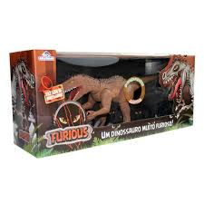 Dinossauro Furious C/ Som 60cm Marrom Adijomar