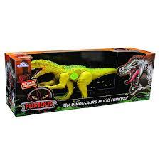 Dinossauro Furious Com Som Verde 60cm - Adjomar