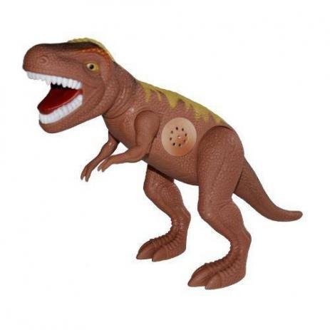 Dinossauro Tirano Rex Com Dispositivo De Som 43cm Adijomar - Marrom