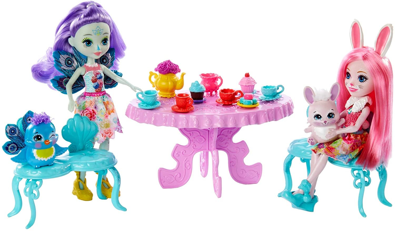 Enchantimals Festa do Chá Bonecas Patter Peacock e Bree Bunny Mattel  GLD41