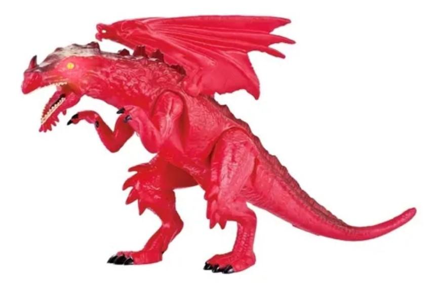 Beast alive Feras Selvagens Dragão Vermelho Com Som E Luz Candide 1127