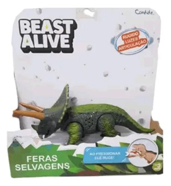 Beast alive Feras Selvagens Tricerátops Com Som E Luz Candide 1127