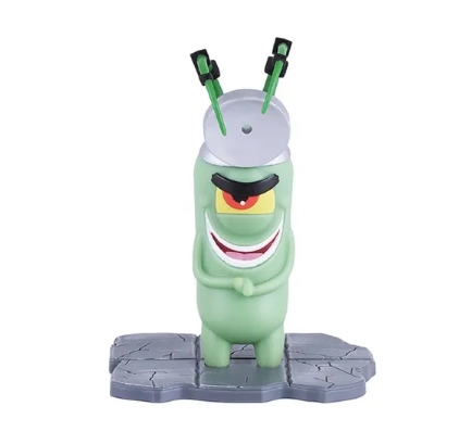 Figura Bob Esponja - Doutor Plankton B-movie - Mattel - Gmx10