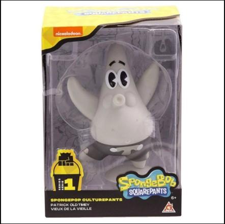Figura Bob Esponja Patrick Estrela Old-Timey da Mattel Gmx10