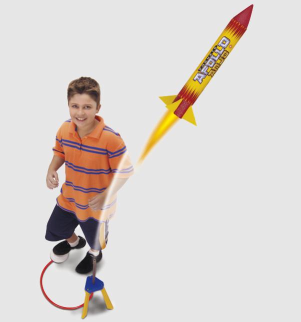 foguete apollo anjo 743 amarelo