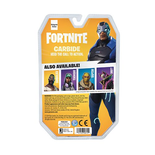 """Fortnite Figura Carbide de 4"""" com Acessórios - Sunny - 2051"""