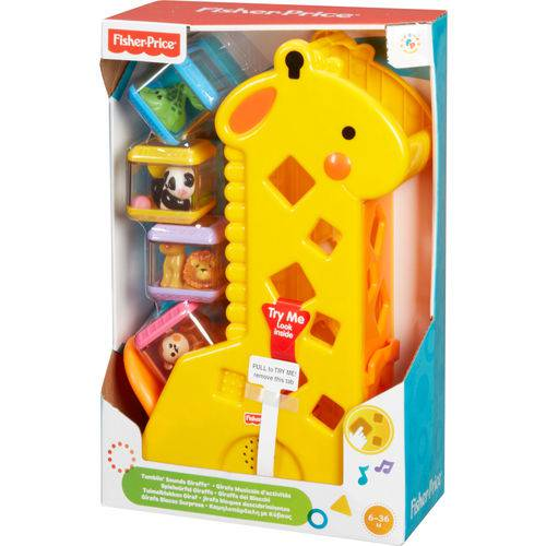 Girafa Pick-a-Blocks 4 Blocos Fisher-Price - B4253