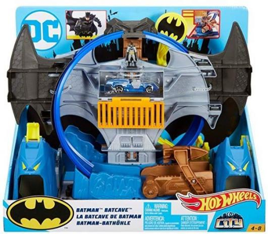 Hot Wheels Batman Batcaverna - Mattel - GBW55