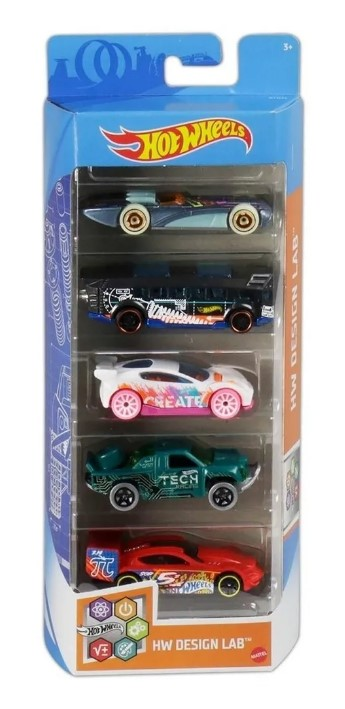 Hot Wheels Conjunto C/5 Carros Hw Design Lab Mattel GTN34