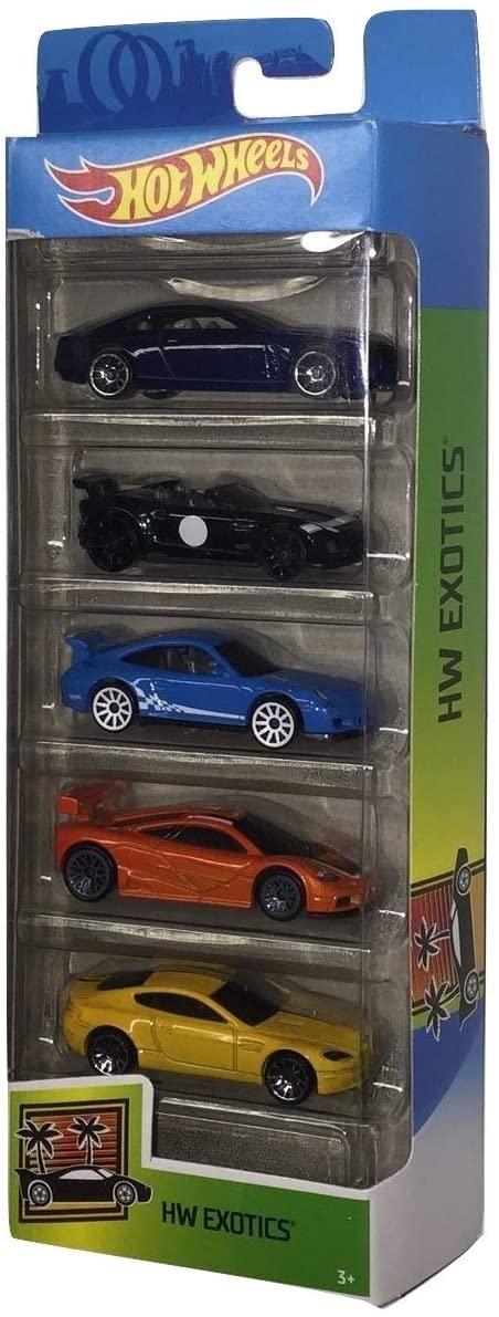 Hot Wheels Conjunto C/ 5 Carros Hw Exotics 2020