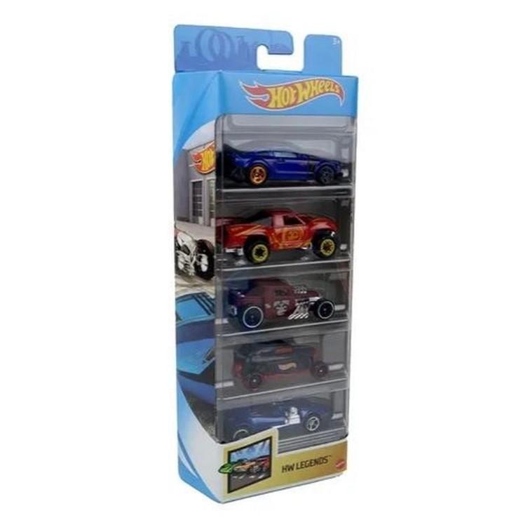 Hot Wheels Conjunto Com 5 Carros Hw Legends Mattel GTN38