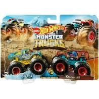 Hot Wheels Conjunto Monster Trucks Raijyu E Kovmori - Mattel Gjf66