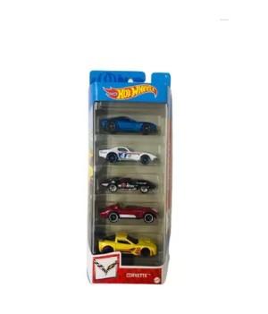 Hot Wheels kit com 5 carrinhos - Corvette;