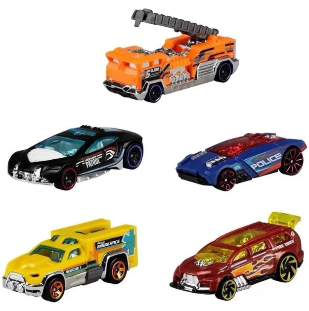 Hot Wheels Kit Com 5 Carrinhos HW Rescue - Mattel GHP61