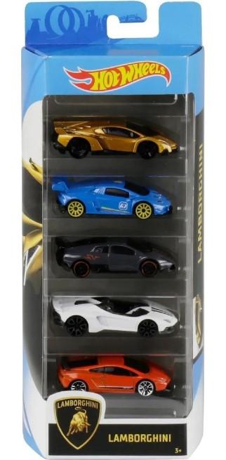 Hot Wheels Kit Com 5 Carrinhos Lamborghini
