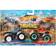 Hot Wheels - Monster Trucks 1:64 - Pack com 2 - Bigfoot Contra Snake Bite Gtj51